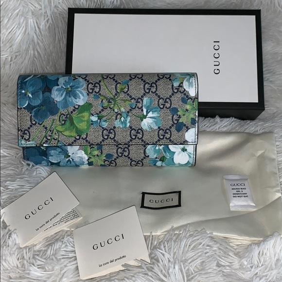 Gucci Handbags - ❌SOLD ❌Gucci Blooms blue wallet NWB